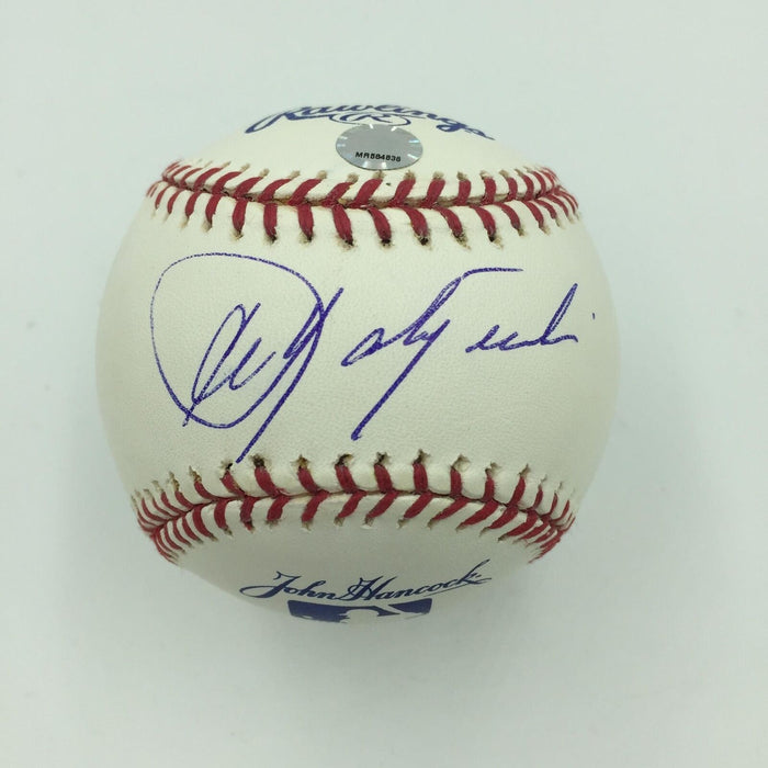 Nice Carl Yastrzemski Signed Rawlings John Hancock Baseball MLB Authenticated