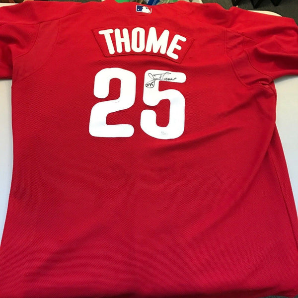 2012 Jim Thome Game Used Signed Philadelphia Phillies Jersey With JSA COA