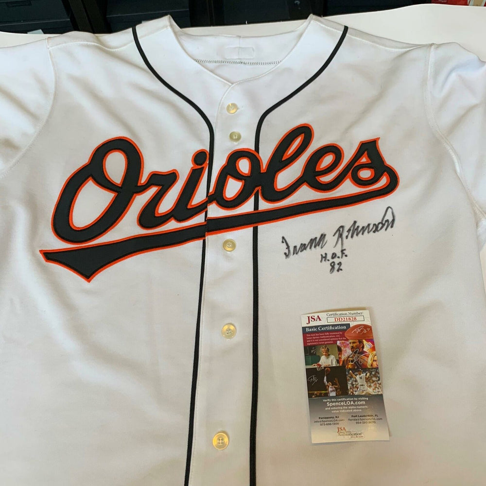Frank Robinson Hall of Fame 1982 Signed Authentic Baltimore Orioles Jersey JSA