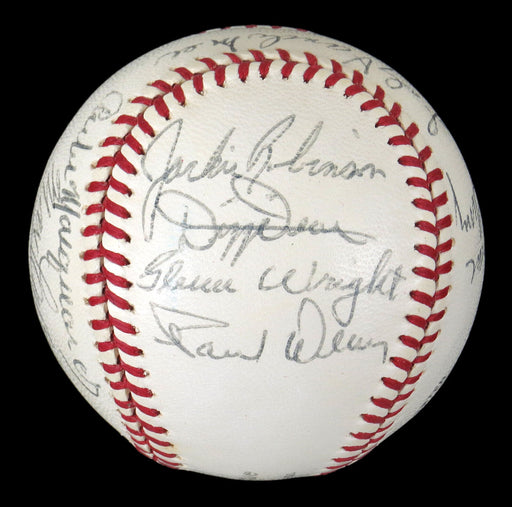 Nice Jackie Robinson 1969 Hall Of Fame Multi Signed Baseball 14 Sigs JSA COA