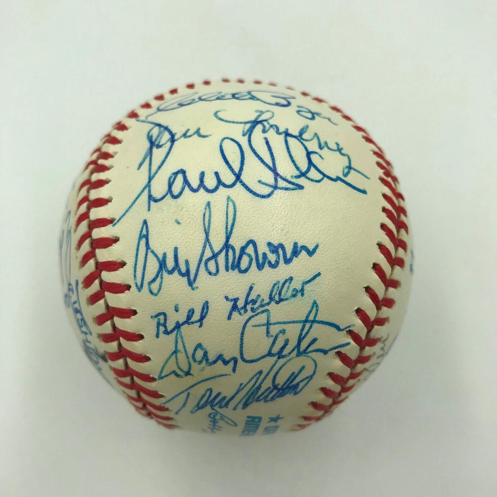 1991 Boston Red Sox Legends Old Timers Day Multi Signed Baseball 25 Sigs