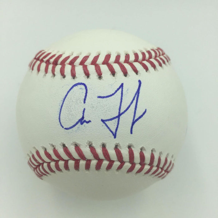 "Rare Aaron Judge ""@TheJudge44"" Twitter Handle  Signed Inscribed Baseball PSA DNA"