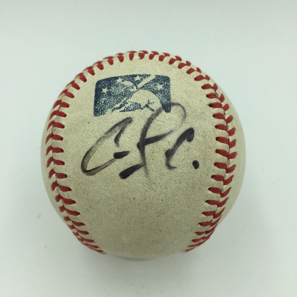 Rare Carlos Correa Pre Rookie Signed Game Used Minor League Baseball JSA COA