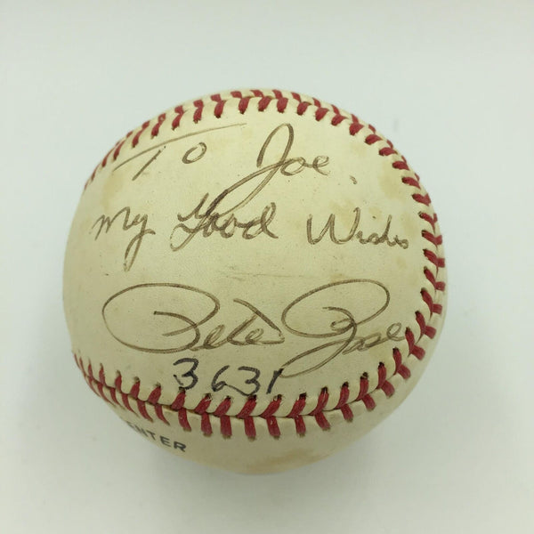 1981 Pete Rose 3631 Hit Signed Game Used National League Baseball PSA DNA COA