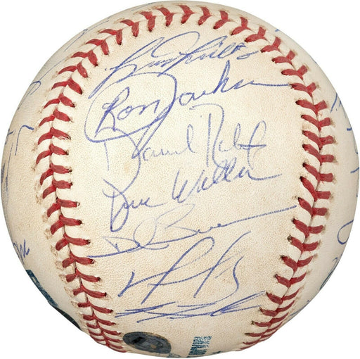 Historic 2004 Boston Red Sox ALCS Game Used Team Signed Baseball PSA DNA Steiner