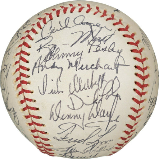 Beautiful Vintage 1975 Boston Red Sox Champs Team Signed Baseball PSA DNA & JSA