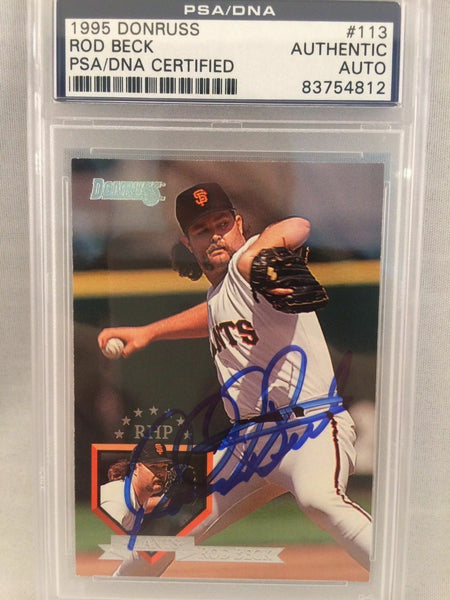 1995 Donruss Rod Beck Signed Autographed Baseball Card Psa Dna