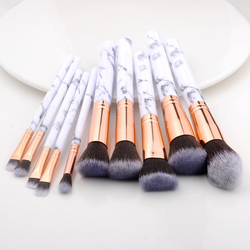 Marble 10 Piece Face Brush Set