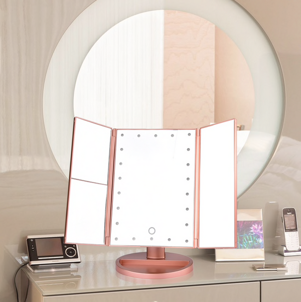 Serenity Trio LED Foldable Mirror Stand