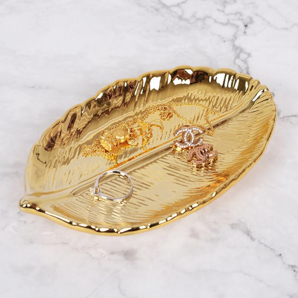 Haven Gold Leaf Tray