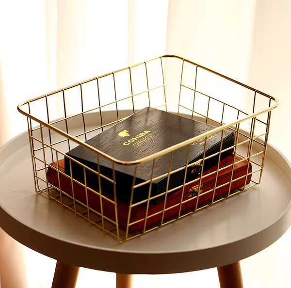 Daisy Gold Series Grid Storage Basket
