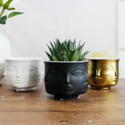 Abstract Ceramic Face Planter