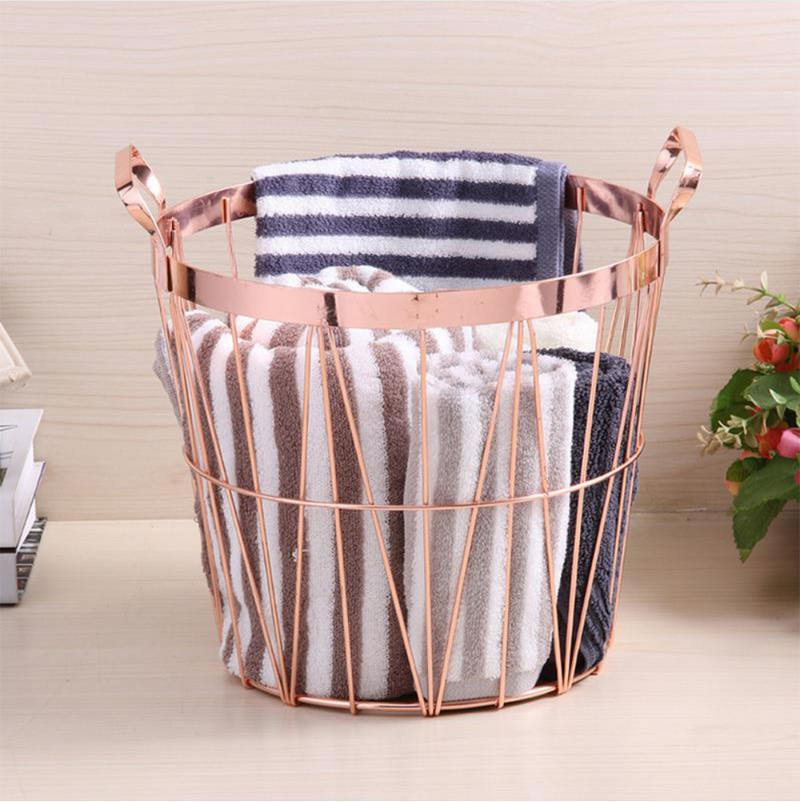 Stacey Round Metal Storage Basket