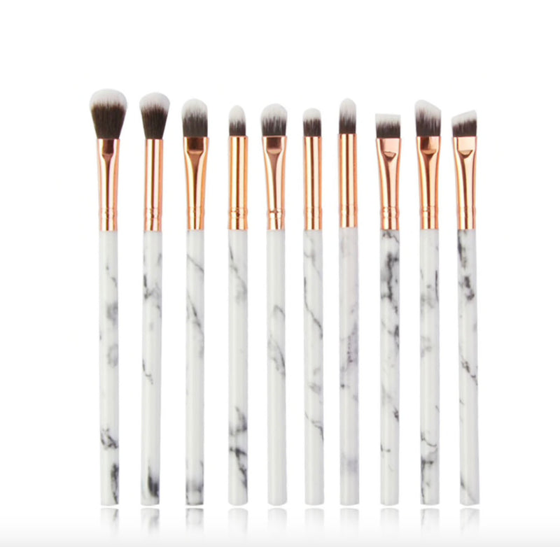 Marble 10 Piece Mini Brush Set