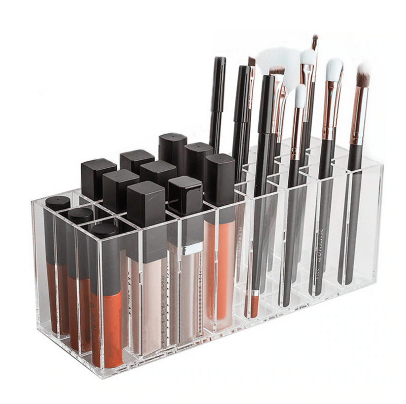 Luxe Acrylic 24-Slot Tall Cosmetic Organizer