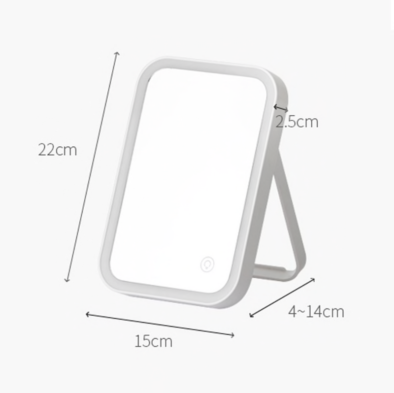 Moda Rectangular LED Mirror Stand