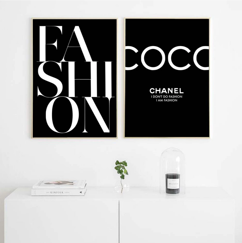 Minimal COCO Fashion Canvas