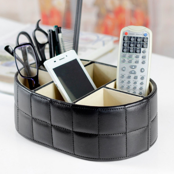 Rivera Leather Desk Organizer