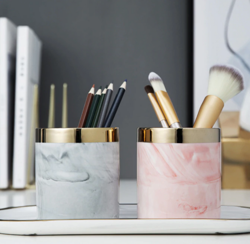 Marble Pencil Holder