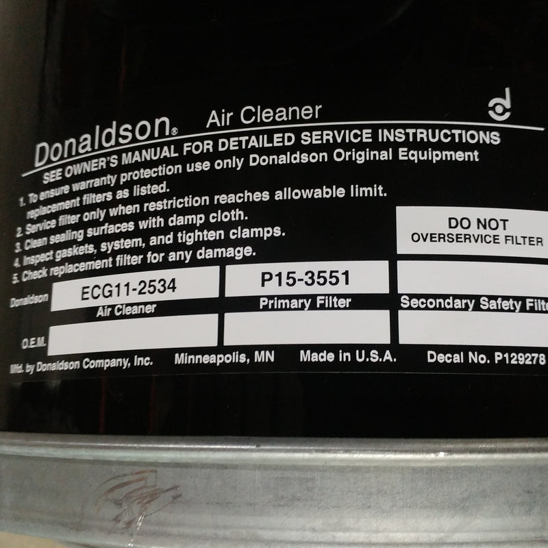 Damaged Donaldson Western Star Air Cleaner P/N: DN-ECG11-2410 (6540840534102)