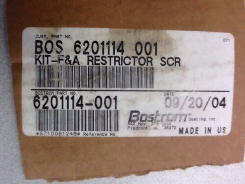Bostrom Accuride Kit-F&A Restrictor Screw - P/N  6201114-001 (3939655680086)