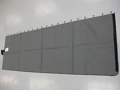 Freightliner Gray Vinyl Privacy Curtain - Left Hand - P/N: W18-00569-012 (4001823719510)