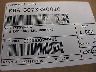 Mercedes Benz Left Hand Tie Rod End, Urresko - P/N: MBA 6073380010 (3939785408598)