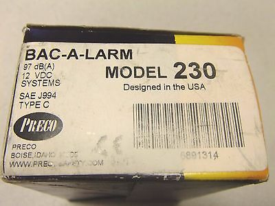 Preco Bac-A-Larm - 97 dB (A) 12 VDC Systems  - Model 230 (3939591880790)