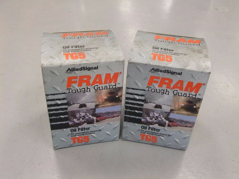 Lot of 2 Fram Tough Guard Oil Filters - P/N: TG5 - New Old Stock (3965129588822)