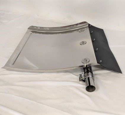 Western Star LH Stainless Steel Quarter Fender (With Clamp) P/N  A22-73944-004 (5021326770262)