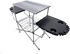 Foldable Outdoor Grilling Table طاولة متنقلة