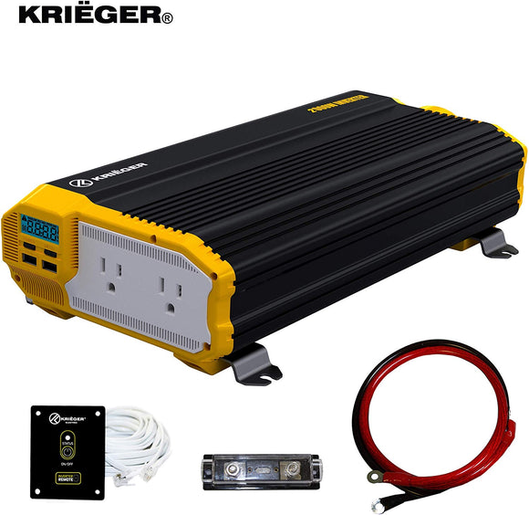 Krieger 2000 Watts Power Inverter 12V to 110V انفرتر