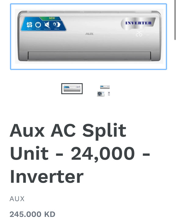 Aux AC Split Unit - 24,000 - Inverter