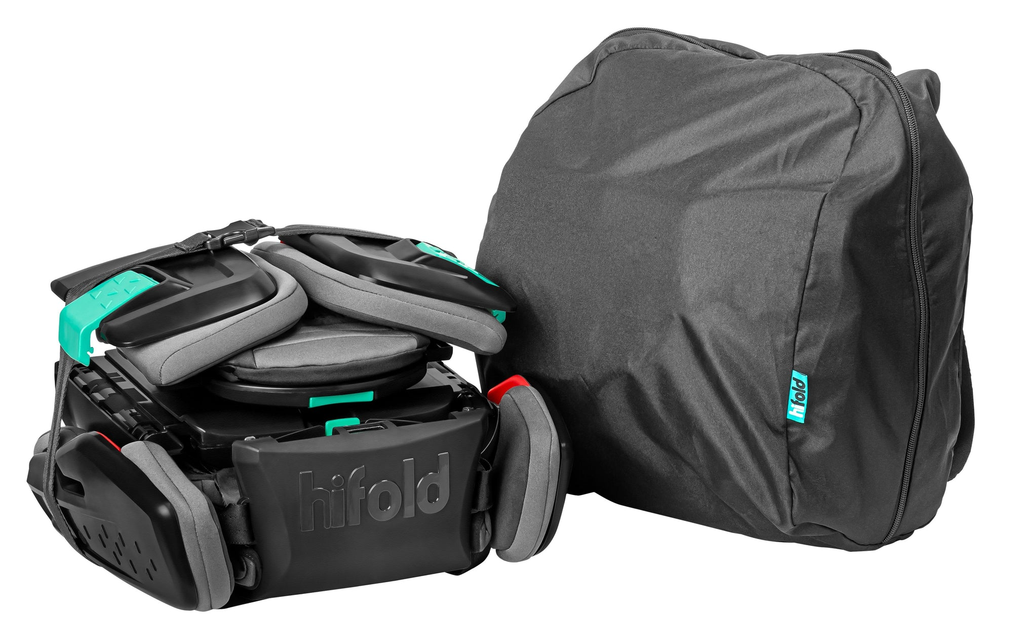 The hifold fit-and-fold booster storage bag