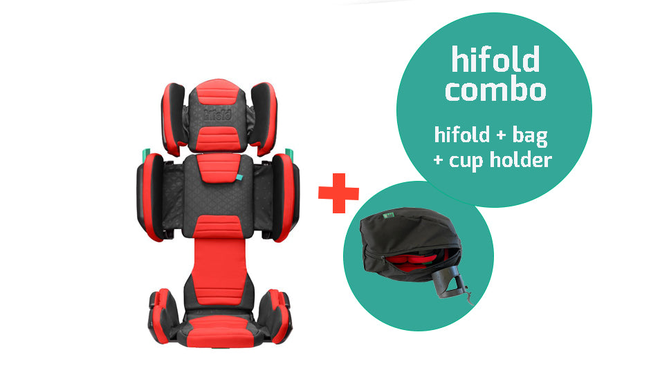 hifold the fit-and-fold booster + storage bag + cup holder