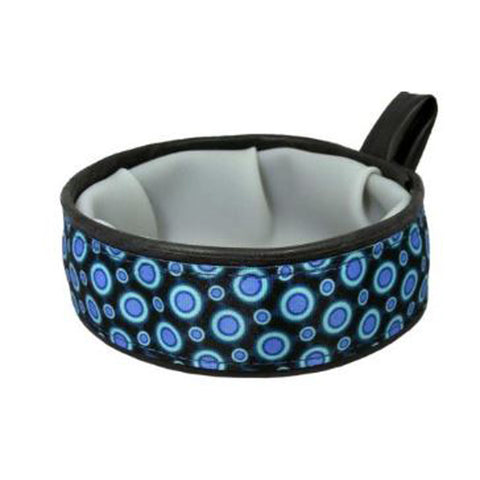 Blue Space Dots Trail Buddy Bowl
