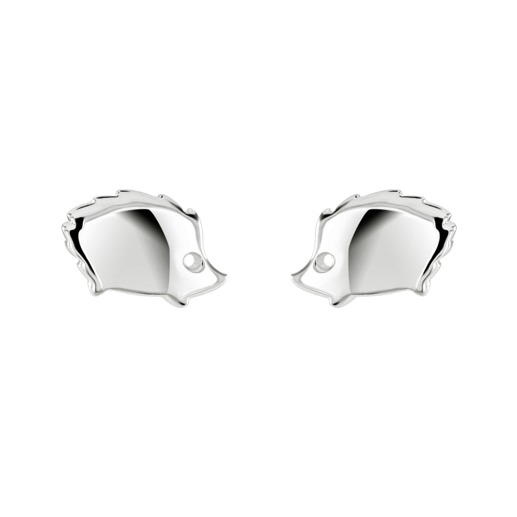 Dew Dinky Sterling Silver Stud Hedgehog Earrings