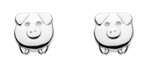 Dew Sterling Silver Mini Piglet Stud Earrings