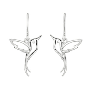 Dew Humming Bird Drop Earrings