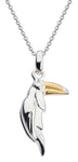 Sterling Silver and Gold Plate Toucan Pendant