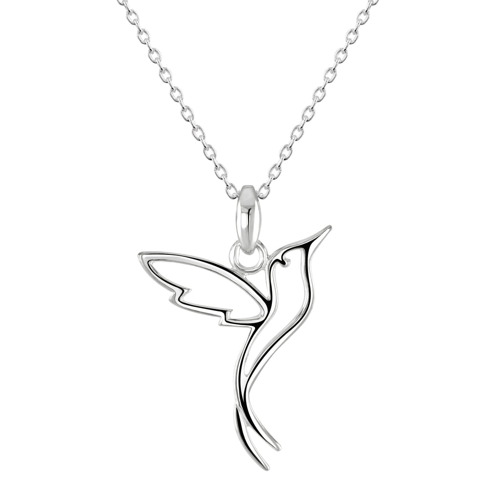 Dew Sterling Silver Humming Bird Pendant