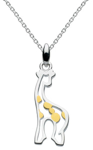 Dew Stand Tall Gold Plated Giraffe Pendant