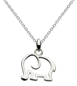 Dew Sterling Silver Elephant Pendant and Earring Set