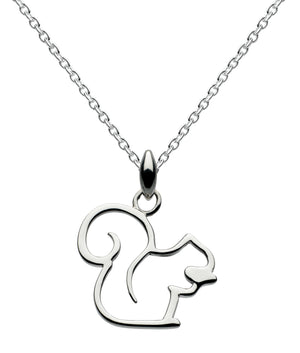 Dew Sterling Silver  Squirrel Pendant and Earrings Set
