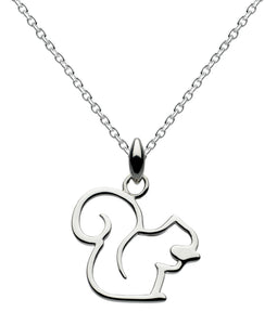 Dew Sterling Silver  Squirrel Pendant