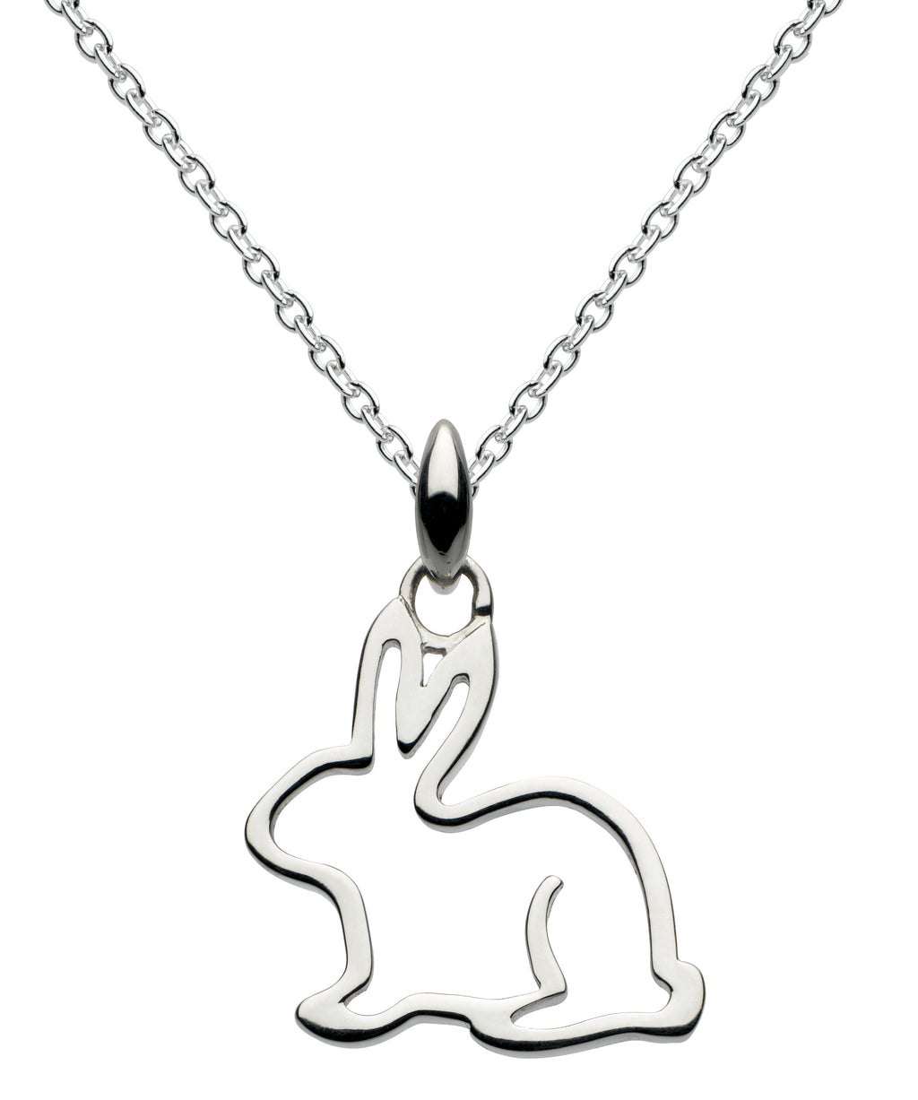 Dew Rabbit Sterling Silver Pendant and Earrings Set