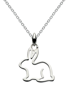 Dew Rabbit Sterling Silver Pendant