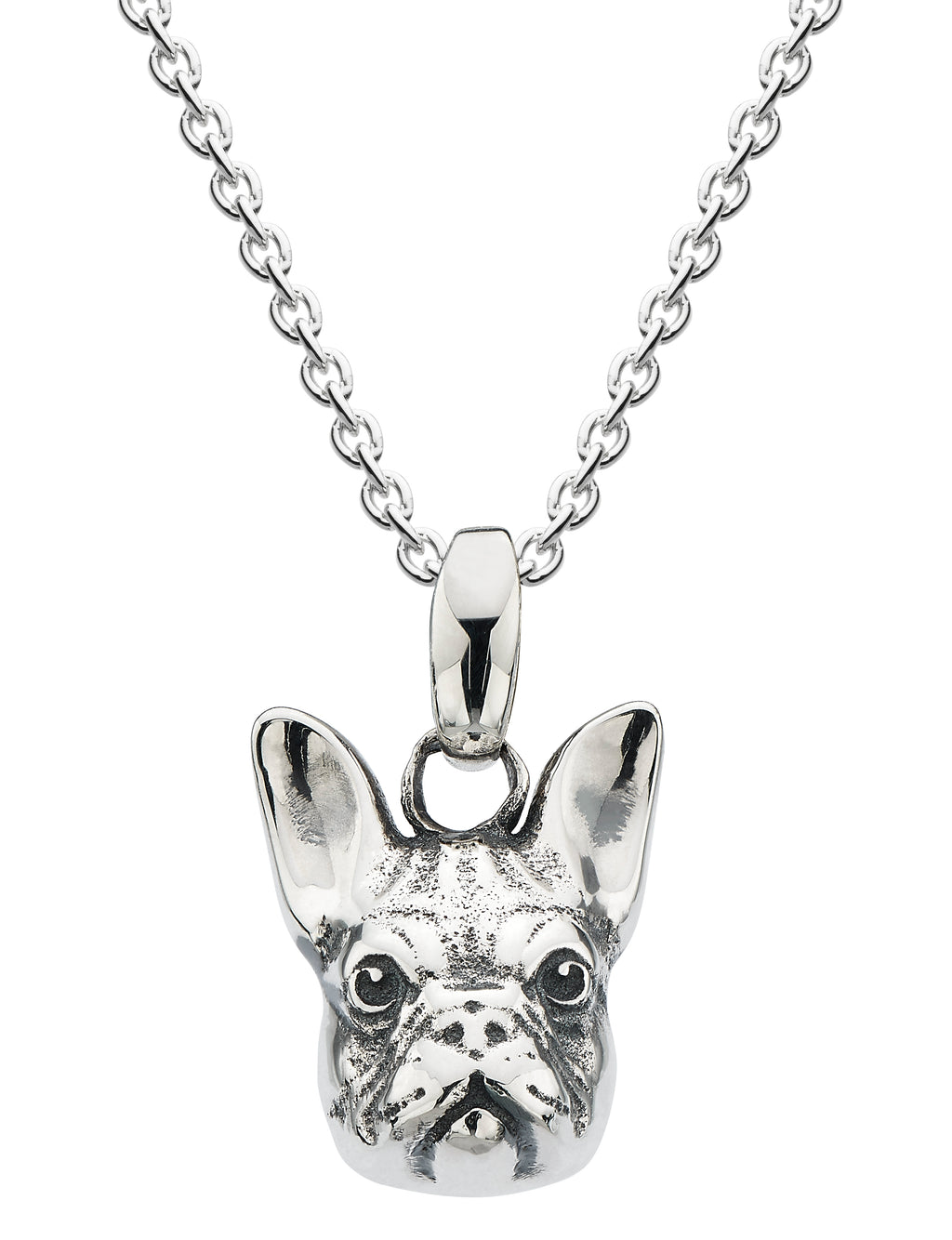 French Bull dog head pendant on chain
