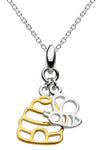 Dew Honey Bee Yourself Gold Plated Hive & Bee Pendant