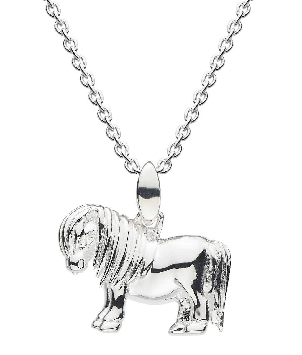 Dew Sterling Silver Shetland Pony Pendant Necklace